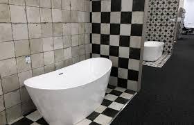 bathroom blue and white patterned floor tiles kitchen tile