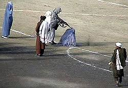 taliban treatment of women  public execution of a w known as zarmeena by the taliban at the ghazi sports stadium kabul 16 1999 the mother of seven children had been