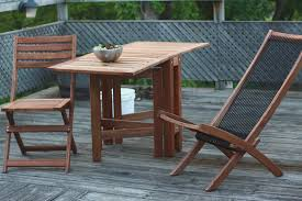patio small wood patio table wooden and chairs round folding