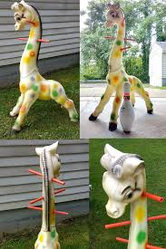 Giraffe Coat Rack Plastic hollow giraffe w no visible markings Kid's coat rack 27
