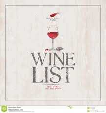 Free Wine List Template Download Wine List Menu Template Stock Vector Illustration Of List 31550935