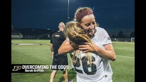 OVERCOMING THE ODDS: Purdue's Sarah Griffith overcame a serious injury to  play soccer at Purdue. - YouTube