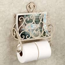 Toilet Paper Holder With Magazine Rack Aldabella Wall Magazine Rack with Toilet Paper Holder 31