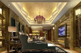 tray lighting ceiling. Art Deco Living Room With Tray Ceiling Accent Lighting, Custom Gypsum Ceiling, Crown Lighting ,