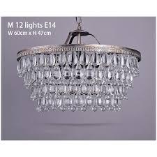 crystal tear drop round base chandelier