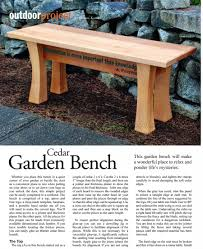 Small Picture Cedar Garden Bench Plans WoodArchivist
