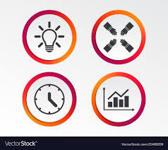 Time Clock Chart Lamp Idea And Clock Time Graph Chart Diagram Vector Image