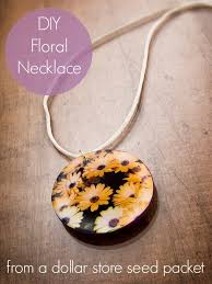you can make your own necklace with a dollar seed packet and some other craft