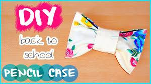 diy back to school no sew pencil case make up bag locker organization you