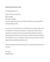 Part Time Cover Letters Cover Letter Free Templates Job Cover Letters Templates Employment