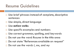 words not to use on a resumes job documents career exploration unit 4 job documents terms