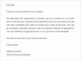 reject letter template rejection letter fresh 12 candidate rejection letter sample