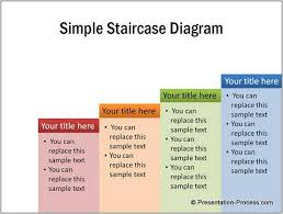 Step Chart In Powerpoint Simple Staircase Diagram In Powerpoint