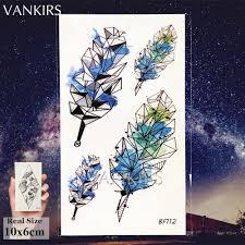 Vankirs черная маленькая временная татуировка женская наклейка боди арт мужские