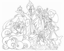Small Picture Disney Villains Coloring Pages Free Cooloring intended for Disney