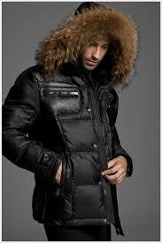 moncler down jackets men zip rac fur collar black no 2154 larger image moncler down jackets men zip rac fur