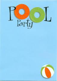 pool party invitation com