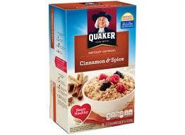 cinnamon e instant oatmeal quaker cinnamone
