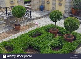 view of formal gardens at vizcaya museum and gardens in miami florida usa