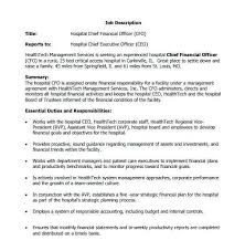 Chief Financial Officer Resumes Chief Operating Officer Resume New Sample Cfo Job Description Sample