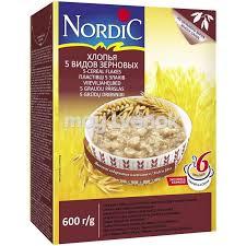 <b>Хлопья Nordic 5</b> злаков, 600 гр - 6411200106722