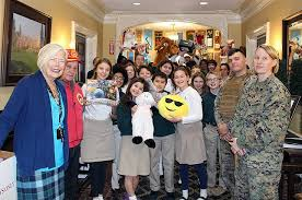 u s marines visit harbor country day to collect thousands of toys donated to suffolk county toys for tots program