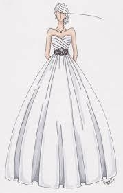 Custom Wedding Gown Sketch By Gownsketch