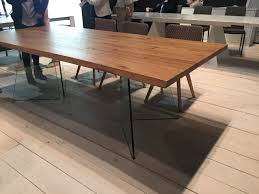 dining room table with clear glass legs