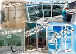 glass shower doors and deck glass railings windscreens south bay custom mirrors sliding glass patio doors