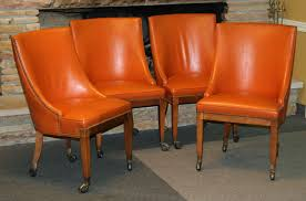 rustic dining room orange leather orange and blue dining room orange leather dining room chairs