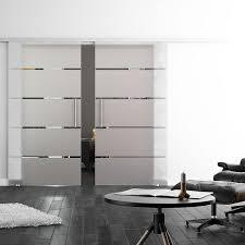interior sliding glass door. Sliding Glass Double Doors - Linea Design Interior Door