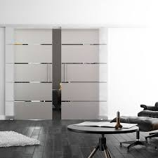 sliding glass double doors linea design