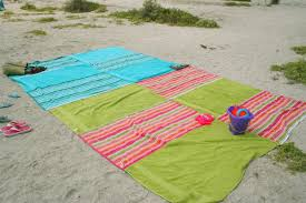 Beach towels on sand Patterned Beach Towel Blanket Sand Cloud Recycle Towels To Make Beach Blanket Chica And Jo