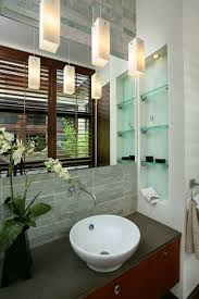 Big Bathroom Designs New Make A Small Bath Feel Spacious With A Big Mirror Glass Shelves In