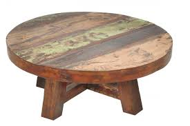 reclaimed wood round coffee table wood round coffee tables round coffee table solid wood round