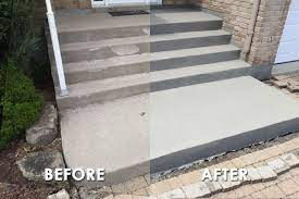 concrete front steps makeover ideas