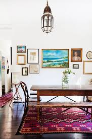 Dining Room: Stylish White Dining Room Gallery Wall - Gallery Wall