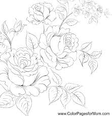Floral Coloring Pages 821 Free Printable Spring Flowers Coloring