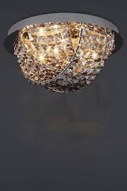 next venetian smoke flush light fitting ceiling lighting chandelier new
