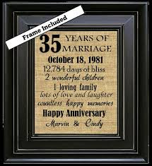 35th wedding anniversary 35th anniversary gifts by burlapngl more 60 wedding anniversary diamond anniversary
