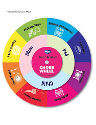 Childrens Dvd Chart Printable Family Chore Wheel Downloadable Activity For