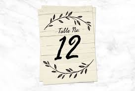 Table Number Design 9 Printable Table Numbers To Add Elegance To Your
