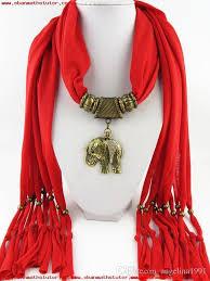 alloy cross pendant elephant scarf jewelry beads fridge scarves necklace scarfs animal heart flower pendants