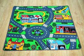 car play rug kids road track children mat pad big x