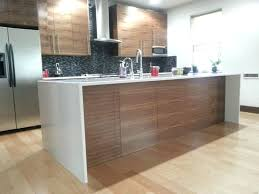waterfall edge countertop glass kitchen standard width thickness laminate detail waterfall edge countertop
