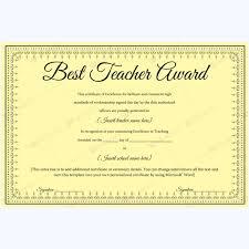 Best Teacher Certificate Templates Free Best Teacher Certificate Templates Free Mandegar Info