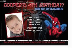 Spiderman Birthday Invitation Templates Free Spiderman Birthday Invitations With Photo Spiderman Birthday