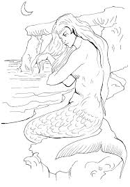 printable mermaid coloring pages. Brilliant Coloring Printable Mermaid Coloring Pages Free Print Throughout I