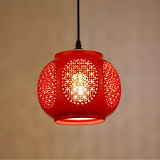 red pendant lighting. Ceramic Glass Red Pendant Lights Lanterns For Balcony Aisle Entrance Hall Lamp Wedding Home Decoration Lighting