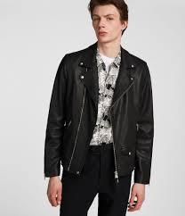 men s milo leather biker jacket black image 1